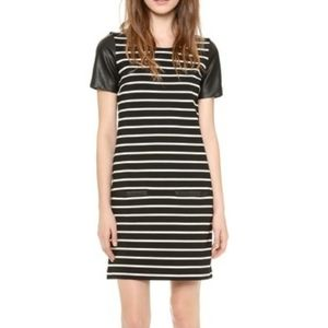 Club Monaco Tobin knit dress black white stripe 2